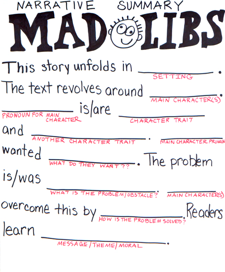 Narrative summary mad libs on the web with roz linder for Terrace in a sentence