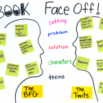 Book Face Off: A fun chart to compare books, genres, & authors!