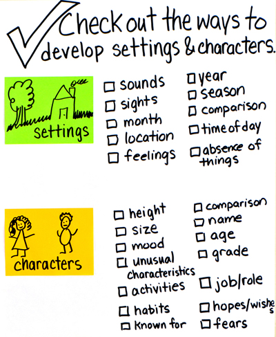 3 Develop Settings And Characters