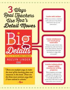 How Teachers Use The Big Book of Details